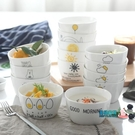 米飯碗 創意卡通陶瓷餐具米飯碗方形碗日式...