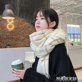 圍巾韓版女冬季長款加厚保暖格子的韓國百搭學生圍脖秋解憂雜貨鋪