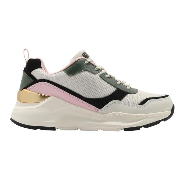 SKECHERS休閒鞋Rovina-Chic Shattering 女鞋復古慢跑鞋老爹鞋運動鞋 米綠粉 155011OFPK