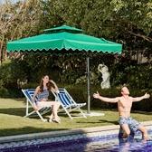 戶外遮陽傘戶外傘大型沙灘太陽傘擺攤傘方摺疊雨傘庭院傘室外防曬  WD