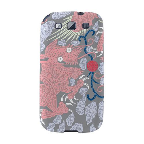 【韓國正品Makase】※Dragon&clouds_A※ SAMSUNG Galaxy S3 i9300 質感手機保護殼 附贈胸針及簡易立架