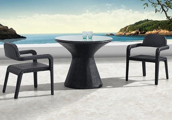 【南洋風休閒傢俱】戶外桌椅系列- 戶外編藤沙發餐桌椅組 扶手休閒餐桌椅 C1010