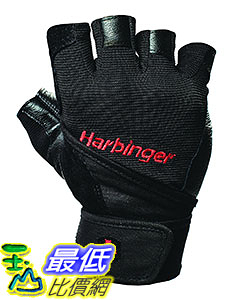 [9美國直購] Harbinger Pro Wristwrap 114030 Weightlifting Gloves with Vented Palm