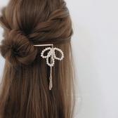 特賣髮簪發簪簡約現代 小清新盤發發釵日常發飾 步搖流蘇淡水珍珠頭飾