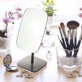 鏡子歐式化妝鏡韓式化妝鏡雙面鏡公主鏡梳臺式黑色復古  名購居家