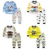 長袖套裝 恐龍火箭 長袖上衣大學T 棉質縮口長褲 家居服 休閒嬰兒服 ZS10425 嬰兒童裝