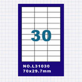 (5包)OGI A4標籤貼紙3欄10列/50張入 四邊直角 雷射.噴墨.點距陣各式列表機專用 標籤貼紙No.L31030