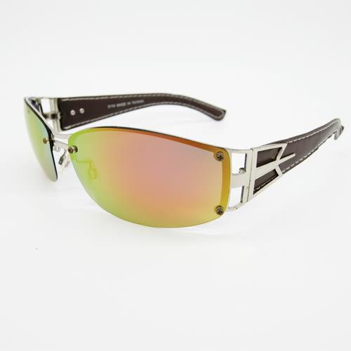 5116▷◁偏光金屬無鏡框皮質腳架太陽眼鏡
