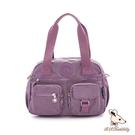 B.S.D.S冰山袋鼠 - 時光旅人 - 知性防潑水兩用手提包 - 深芋紫【B518-U】
