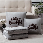 枕頭絨抱枕被子兩用靠墊枕汽車被毯子辦公室午睡休枕頭被 伊莎公主