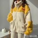 2020春冬新款學院風羊羔毛加絨加厚可愛時尚棉衣棉服短款外套女裝 yu10958『俏美人大尺碼』