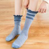 女童蕾絲襪 堆堆襪子女夏季薄中筒襪韓版學院風月子襪ins網紅潮素色長筒襪女 伊蘿鞋包