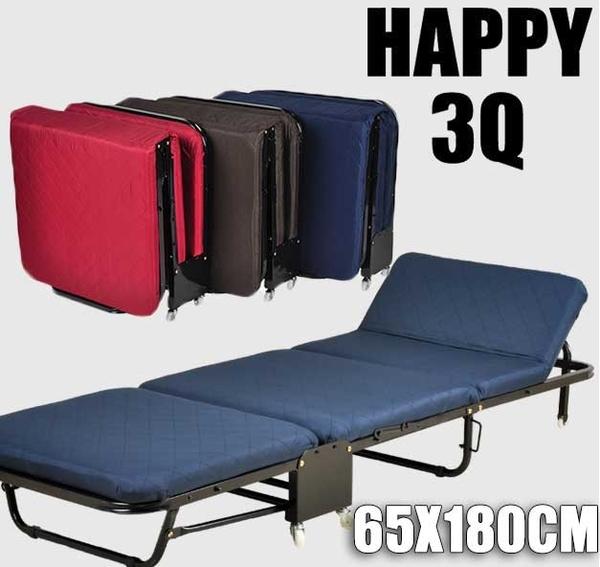 簡易午休床沙發摺疊床折疊床褶疊床單人65X180CM-深藍/咖啡/紅【AAA0332】預購