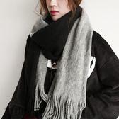 【618好康又一發】韓版毛線圍巾女冬季加厚長款情侶圍脖秋冬針織雙面保暖圍巾男