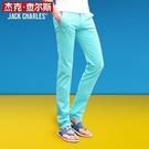 夏季薄款男褲男士修身小腳褲直筒褲子韓版休閒褲潮流男青少年長褲 依凡卡時尚