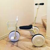 簡約無印兒童三輪車腳踏車1-3歲幼兒輕便手推車自行車寶寶童車igo『韓女王』