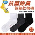 【衣襪酷】金滿意 抗菌除臭 氣墊 棉襪 1/2襪 短襪 男女適用 台灣製