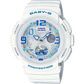 CASIO卡西歐 Baby-G 旅行系列地圖手錶-白 BGA-190-7B / BGA-190-7BDR
