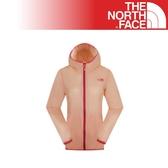 【The North Face 女 排汗外套《橘粉》2VEN/防潑水/休閒外套/戶外/兜帽外套