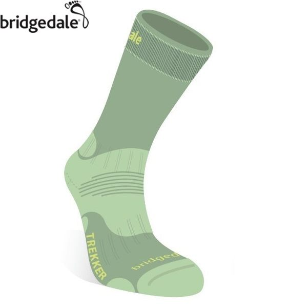 Bridgedale 英國 TK健行者 羊毛襪-中厚 女 M 淺綠 644 登山襪子 健行襪 排汗襪 保暖襪 [易遨遊]