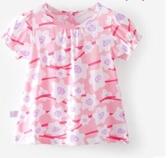 女寶寶短袖T恤1-3歲女童純棉嬰兒半袖洋氣夏季上衣2020新款打底衫 滿天星