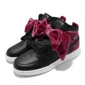 Nike Air Jordan 1 Mid Bow GS 黑 紅 女鞋 大童鞋 蝴蝶結 籃球鞋 運動鞋 【ACS】 CK5678-006