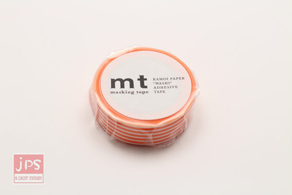 日本MT和紙膠帶 橫條紋-蜜柑橘 MT01D321 (2016春夏款)