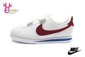 NIKE阿甘鞋 中童鞋 現貨 正版 原廠配色 Cortez Basic SL 復古慢跑鞋O7032#白紅◆OSOME奧森鞋業