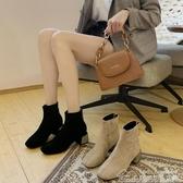 新款短靴女春秋單靴冬季中跟粗跟瘦瘦靴增高跟鞋彈力短筒 居樂坊生活館