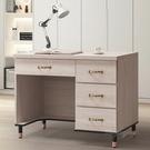 【水晶晶家具/傢俱首選】CX1451-3 鋼刷白104.5公分四抽書桌下座