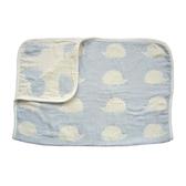 Hoppetta 寶寶棉被(M)-刺蝟藍 0-3歲 | 日本製六層紗-寢具用品(初生嬰幼兒/新生兒/兒童)