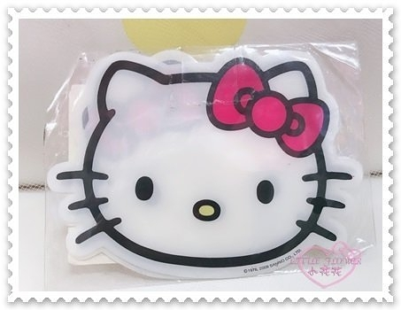 ♥小花花日本精品♥ Hello Kitty 白色大臉 蝴蝶結 桃色粉色 杯墊 隔熱墊 53100405