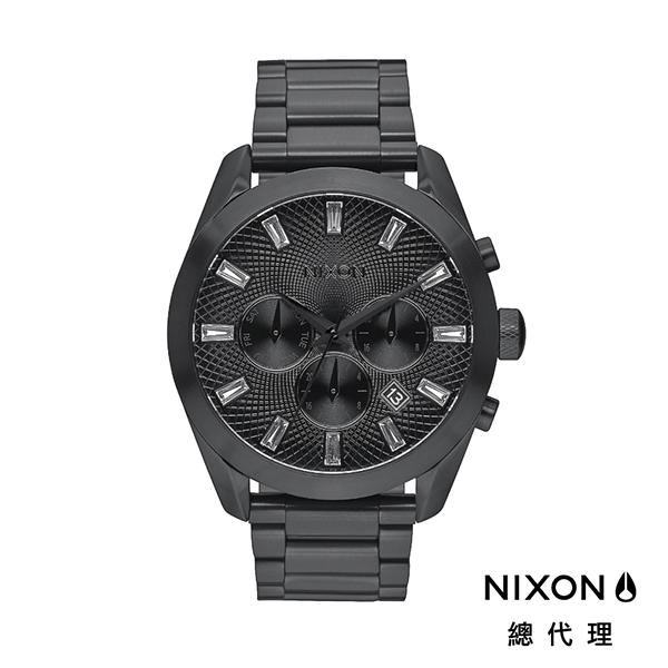 【官方旗艦店】NIXON BULLET CHRONO CRYSTAL 奢華時尚 黑 潮人裝備 潮人態度 禮物首選