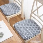 日式棉麻 坐墊餐桌椅墊子辦公學生打坐墊榻榻米家用板凳防滑軟墊 黛尼時尚精品