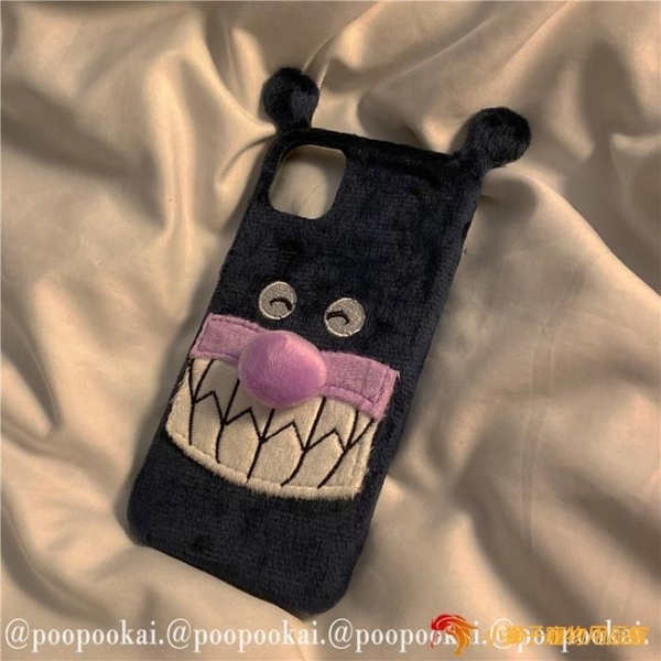 手機保護套紫色卡通動漫毛絨適用12/11promax蘋果8plus軟iphone7手機殼xr【小獅子】