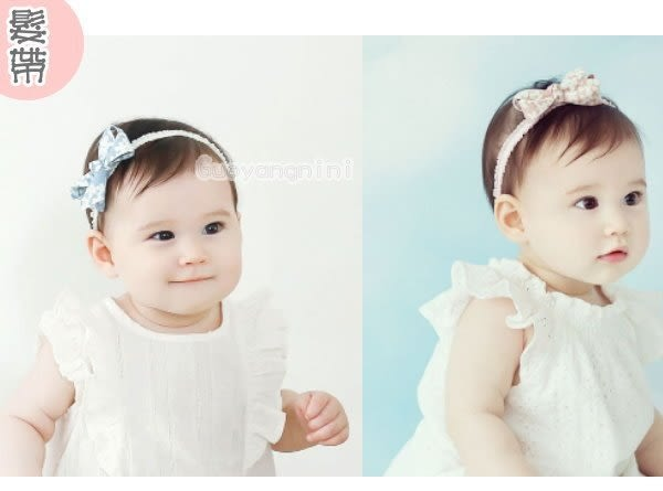 髮飾 蝴蝶結彈性髮帶 寶寶 嬰兒 髮帶  頭帶 送禮 搭配禮服 婚禮-果漾妮妮【 P3929】