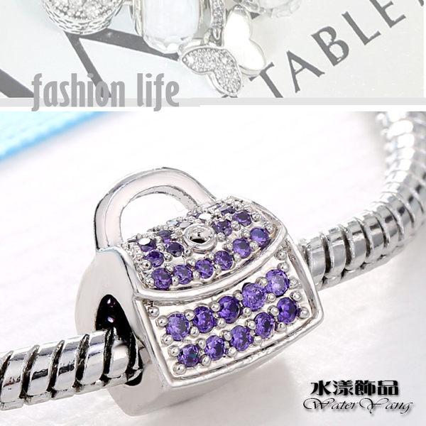 手拿包鑽石大孔珠 潘朵拉風DIY串珠手鍊配件