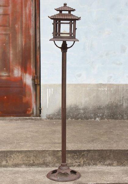 鑄鐵工藝品高品質復古宮廷立杆燭台/路引蠟燭台蠟台庭院擺設品