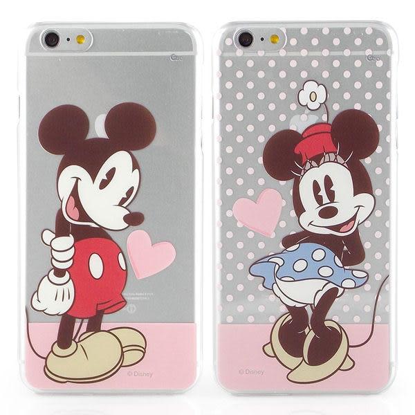 【Disney 】iPhone 6 Plus/6s Plus 彩繪甜心風透明保護硬殼-米奇/米妮