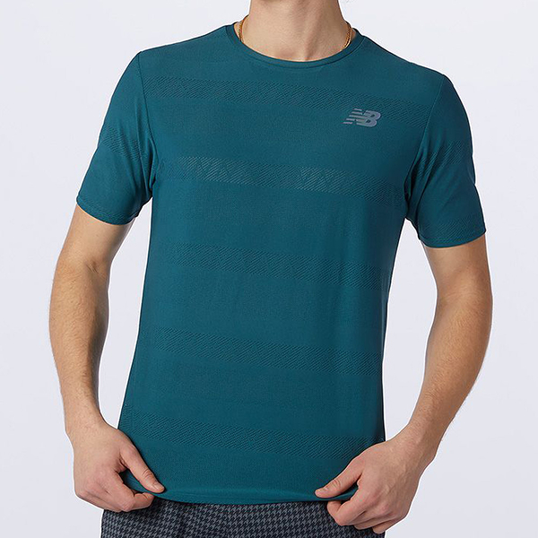 New Balance Q Speed 男裝 短袖 透氣 吸濕 排汗 休閒 反光 綠【運動世界】AMT13277MTL