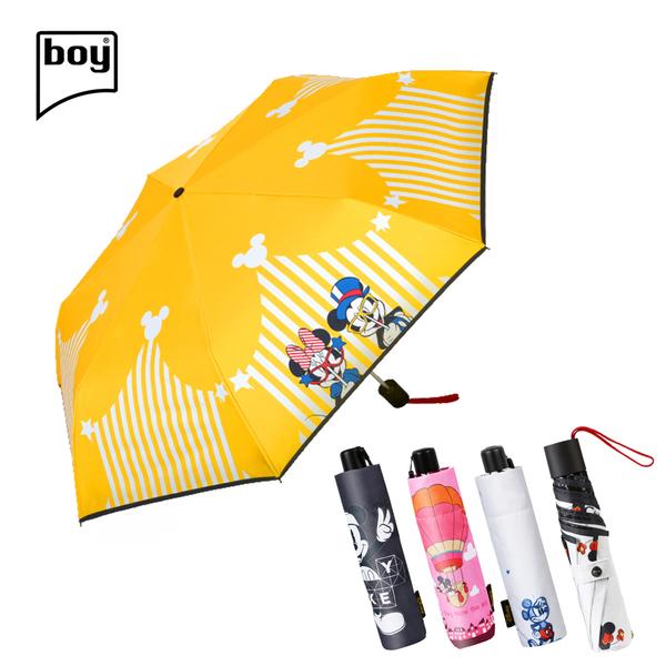 【迪士尼授權】三折黑膠防曬手動晴雨傘(5花色任選)