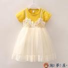 女童公主裙夏裝兒童連身裙蛋糕裙小女孩蕾絲連身裙蓬蓬紗兒童洋裝【淘夢屋】