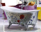 【麗室衛浴】BATHTUB WORLD   YG3351M10 春漾馬賽克古典貴妃 1360*680*770mm