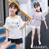 女童t恤夏裝兒童裝中大童短袖8純棉半袖9女孩7寬鬆10上衣12歲 水晶鞋坊