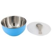 兒童附蓋隔熱碗(附湯匙) BL #304不鏽鋼 NITORI宜得利家居