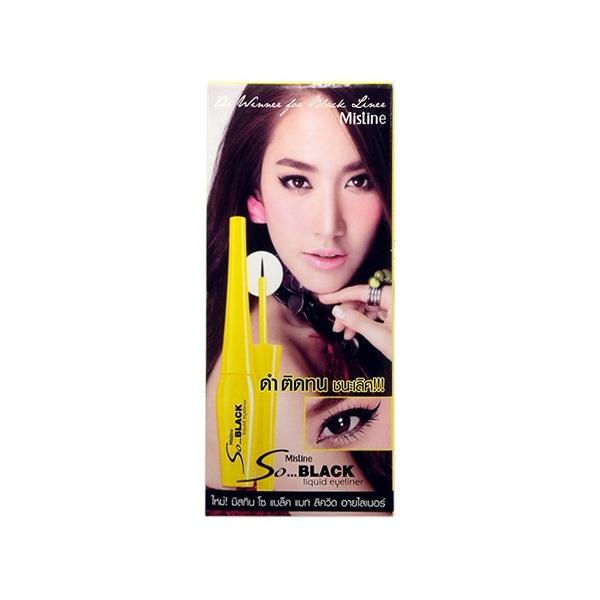 泰國 Mistine 濃黑防水不暈染黃管眼線液(4.5ml)【小三美日】