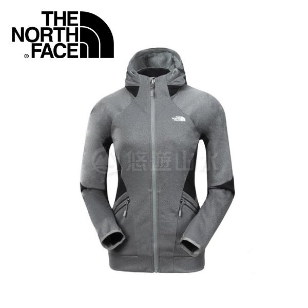 【The North Face 女款 防潑水保暖外套《灰》】364LDYY/連帽保暖/調節連衣風帽/長袖衣