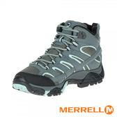 MERRELL(女) MOAB 2 GORE-TEX 中筒多功能防水登山健行鞋 / 灰x淺藍 -ML06060