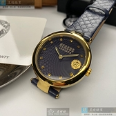 VERSUS VERSACE凡賽斯女錶36mm黑色錶面寶藍錶帶