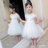 女童禮服   女童洋裝夏裝韓版禮服兒童春裝夏季蓬蓬紗裙子洋氣公主  瑪麗蘇
